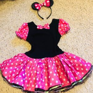MINNIE MOUSE Girls DRESS COSTUME SIZE 6-8 NEW!